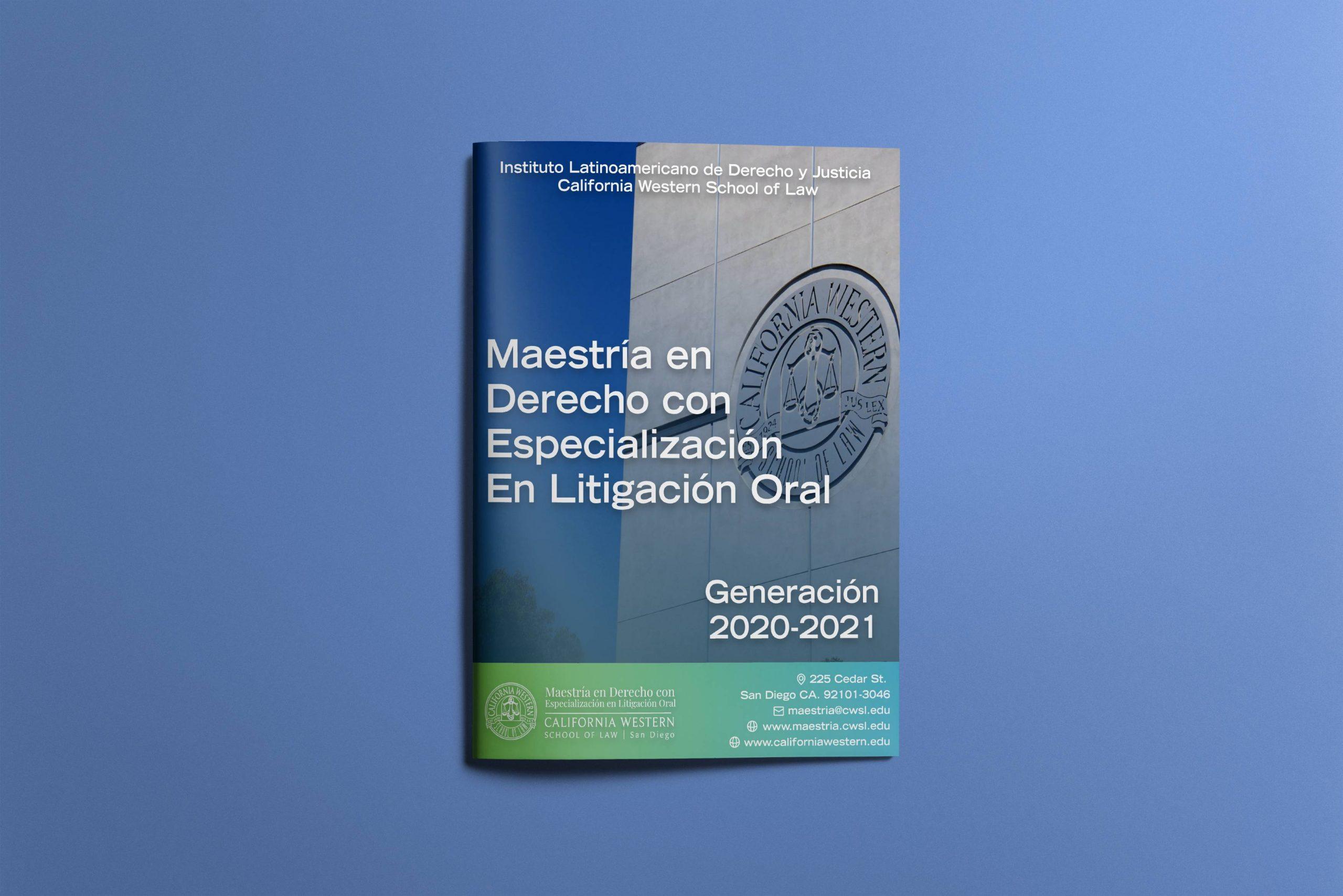 Diseño de Panfleto – Maestría en Litigación