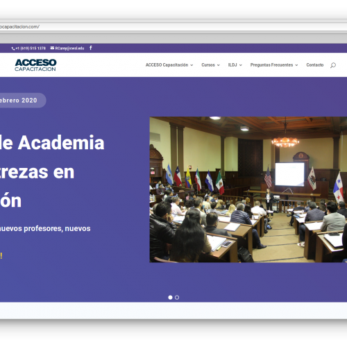 Rediseño Sitio Web – Acceso Capacitación